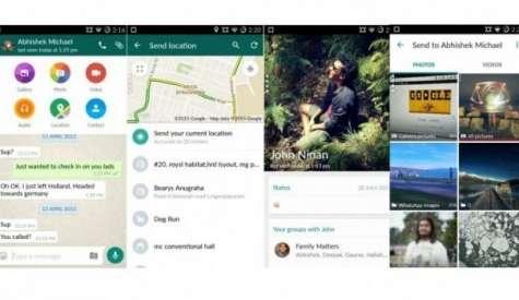La aplicación más popular de mensajería fue modificada para adecuarse al diseño de Android, donde se pide a los desarrolladores más sencillez. Foto:lv12.com.ar