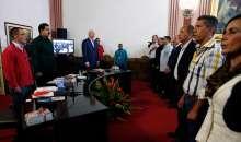 Inédita reunión entre Nicolás Maduro y la oposición. Foto:lapatilla.com
